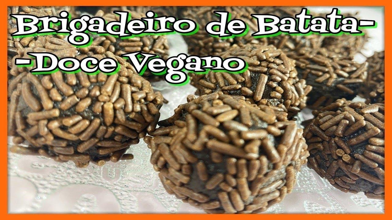 BRIGADEIRO DE BATATA-DOCE VEGANO: Fácil e saudável🍠