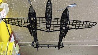 Lockhead P 38 Lightning World War 2 Balsa Wood Model Kit Hobby Plane Airplane Model