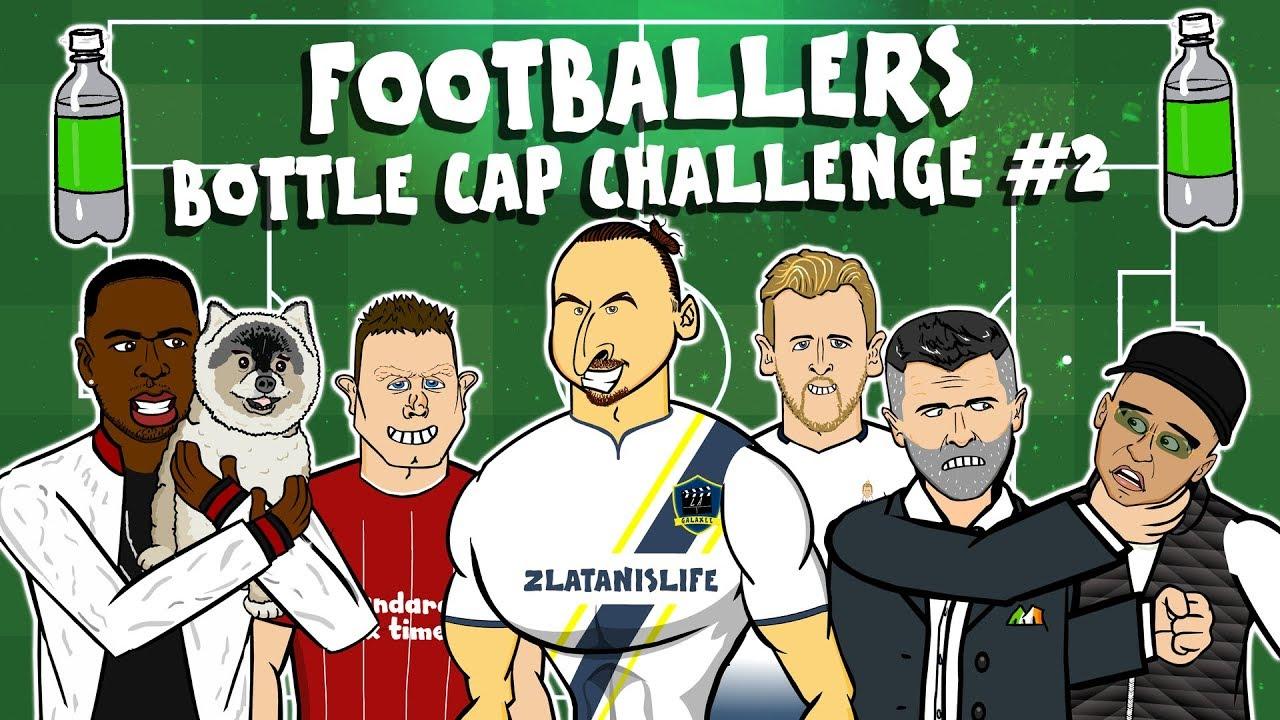 Zlatan Bottle Cap Challenge Kane Keane Milner Sturridge Dog And More Footballers Youtube