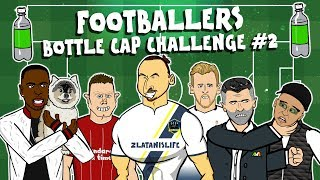 🍾ZLATAN BOTTLE CAP CHALLENGE!🍾(+Kane, Keane, Milner, Sturridge + dog and more footballers!)