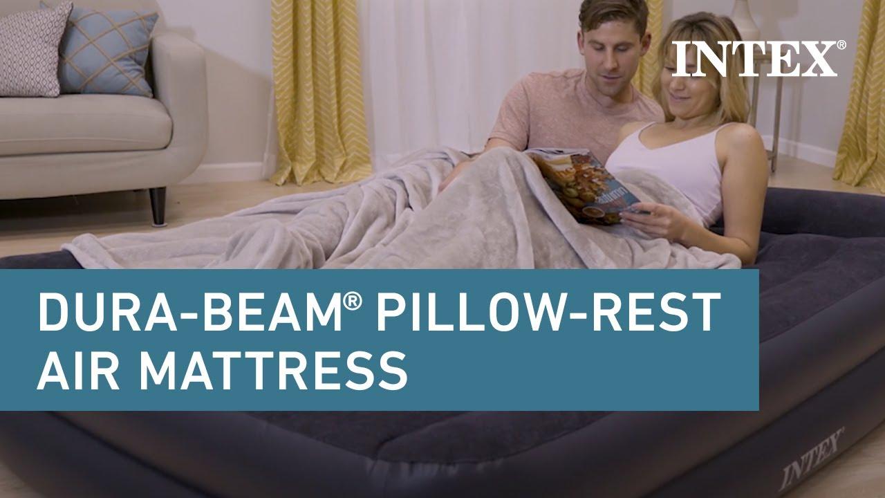 Intex Dura Beam Standard Pillow Rest Raised Airbed Youtube