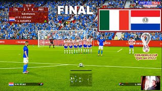 PES 2021 Italy vs Paraguay Final FIFA World Cup 2022 L Insigne Free Kick Goal Full Match HD