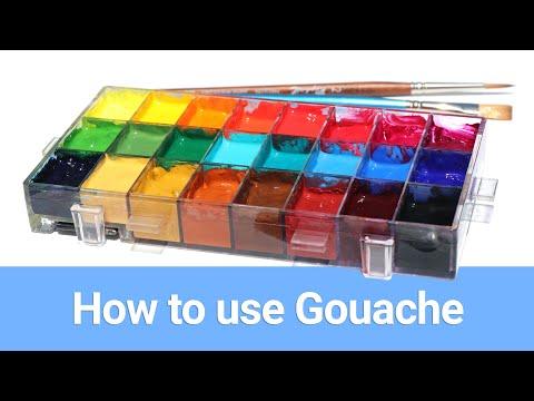 how-i-use-gouache-(enhanced-version)---gouache-painting-tutorial