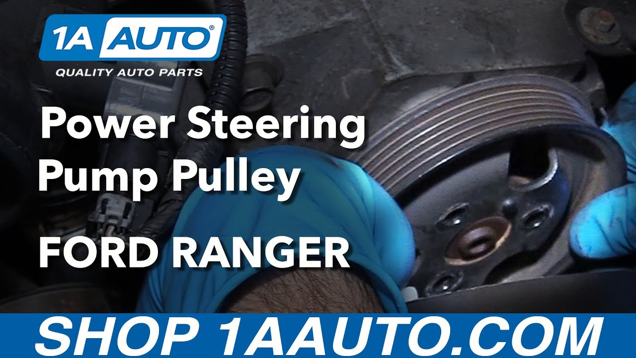 small resolution of how to replace power steering pump pulley 4 0l 98 12 ford ranger