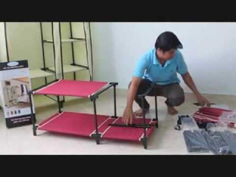 Hướng dẫn lắp ráp tủ vải Thanh Long TVAI01 – Kích thước: (100 x 46 x 175) cm