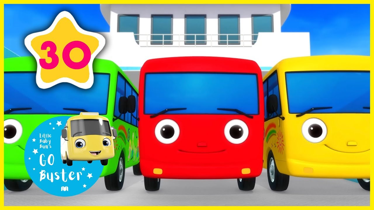 10 Little Buses - Part 3 | Little Baby Bus Compilation ...