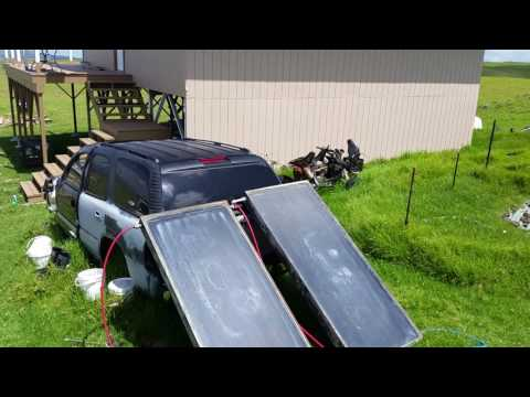 Free Solar Hot Water Heater Is Working Awesome Off Grid