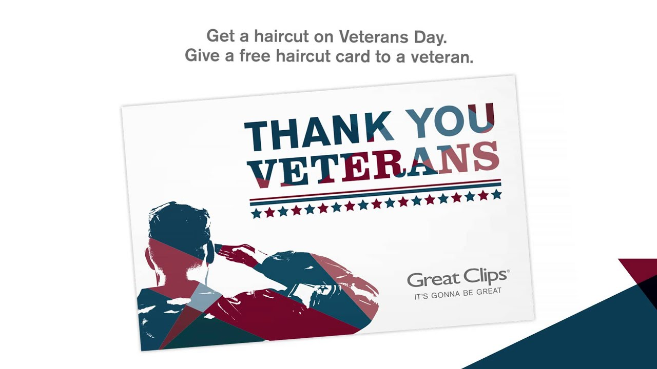 Thank You Veterans Veterans Day 2014 At Great Clips Youtube