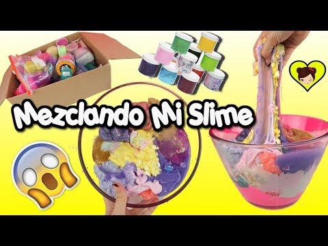 Mezclando Mi Coleccion de Slime - Slime Smoothie  - Los Juguetes de Titi