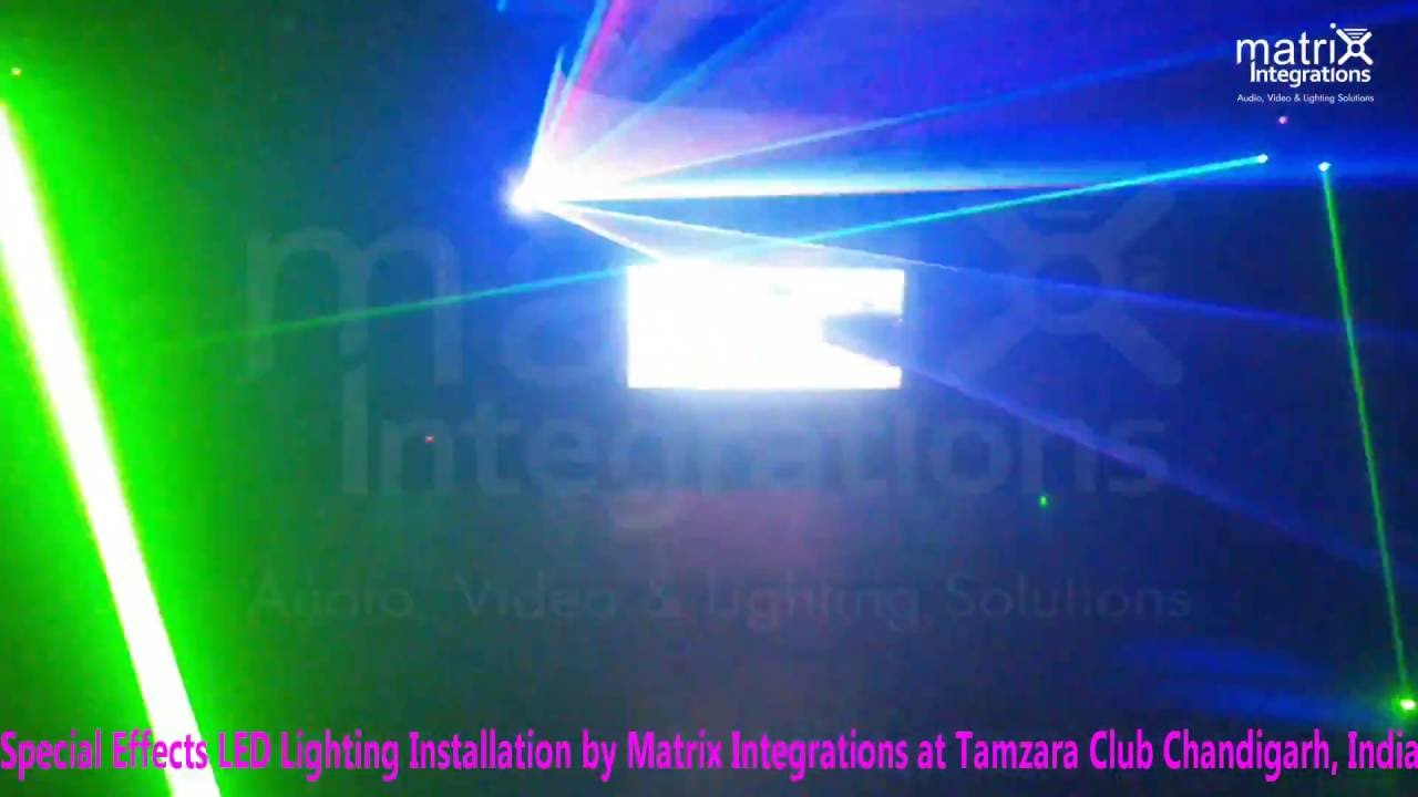 special effects led lighting installation at tamzara club chandigarh