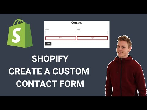 Shopify How To Edit The Contact Us Page - How To Create Custom Contact Forms