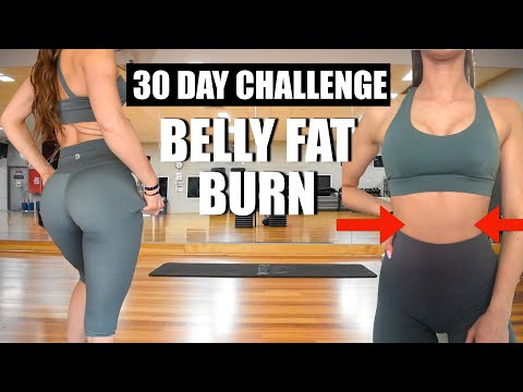 10 MIN BELLY FAT BURN WORKOUT - 30 DAY CHALLENGE | LOSE Belly FAT | BUFFBUNNY COLLECTION