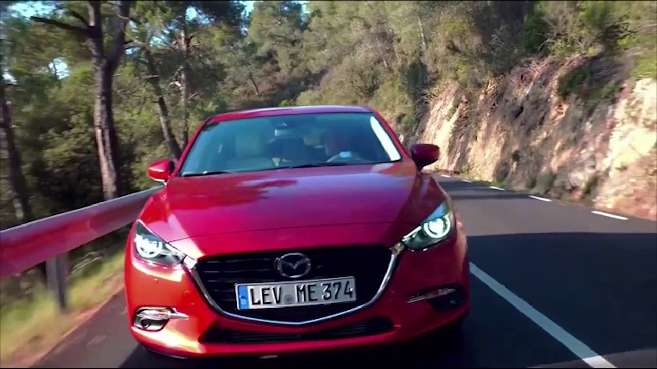 2017 Mazda 3 Wagon Soul Red Driving Video Automototv