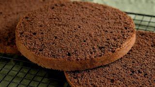 Шоколадный БИСКВИТ и как разрезать бисквит Лучший РЕЦЕПТ БИСКВИТА для торта