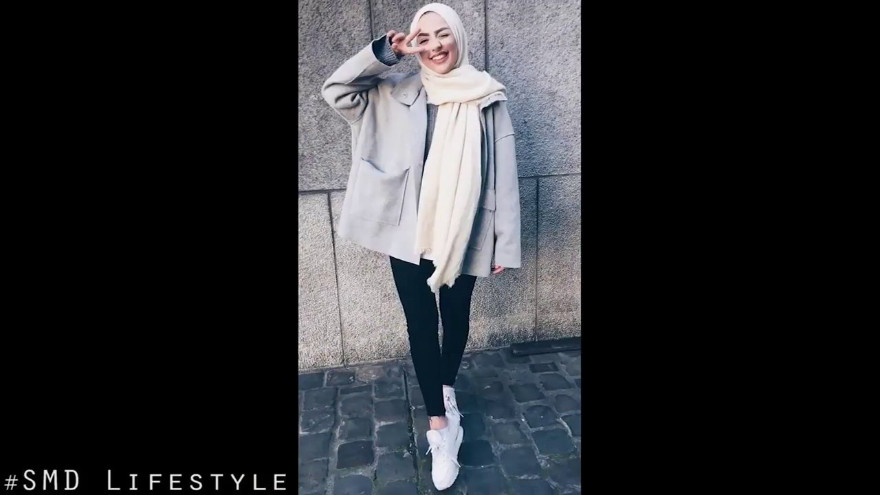 09057ed1a957 Trendy Swag Hijab Style 2018 Winter Fashion Lookbook - YouTube
