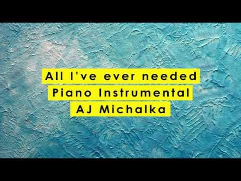 All I've Ever Needed Karaoke - AJ Michalka || Grace Unplugged || Piano Instrumental