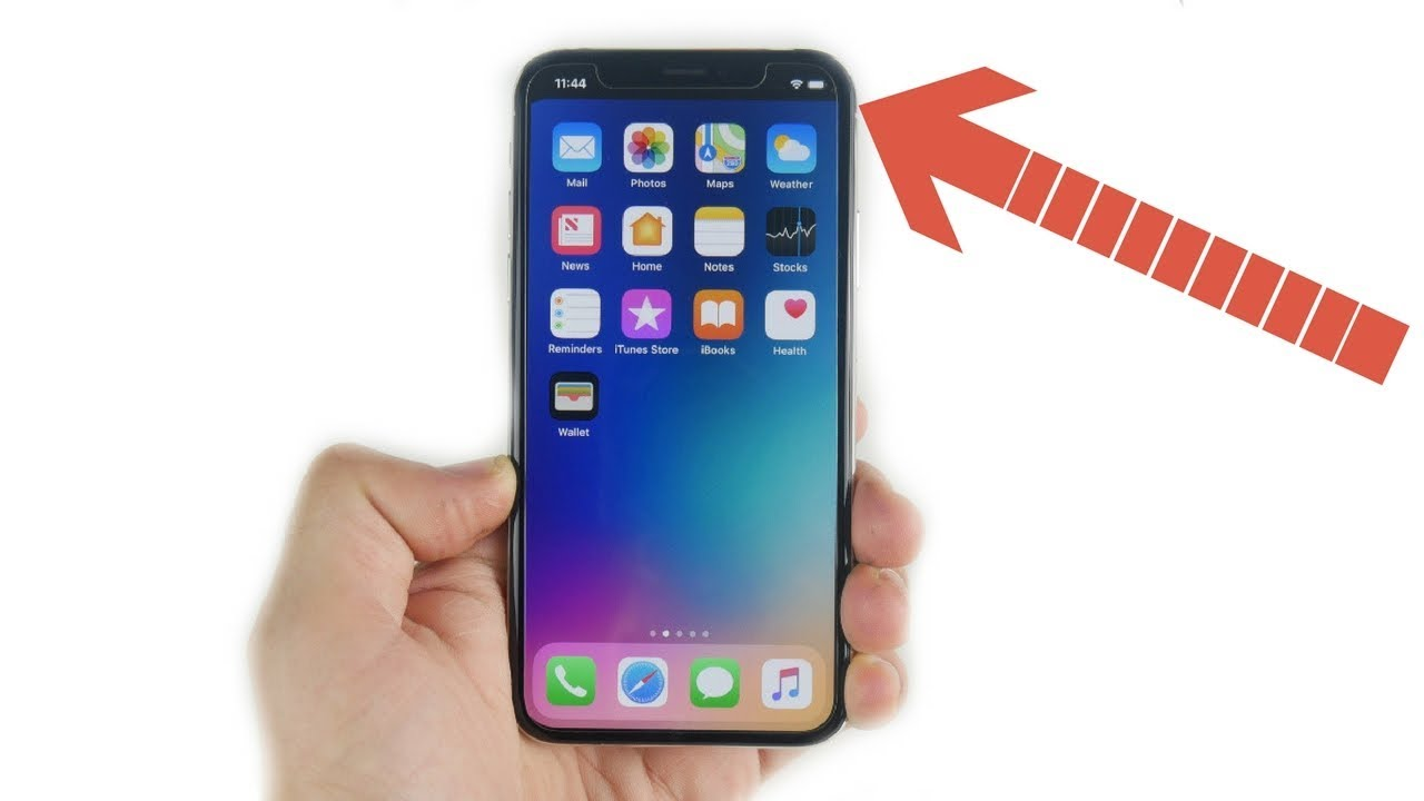 How to remove iPhone X Notch? - YouTube