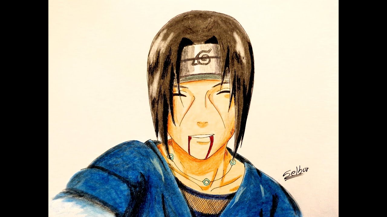 Cómo Dibujar A Itachi Uchiha Naruto Selbor
