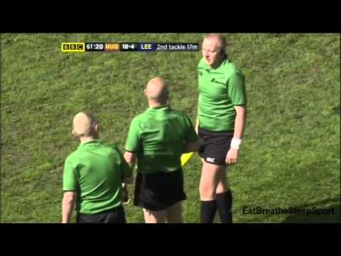 Joe Wardle Red Card Challenge Cup 5th Round Tie Huddersfield V Leeds 2013