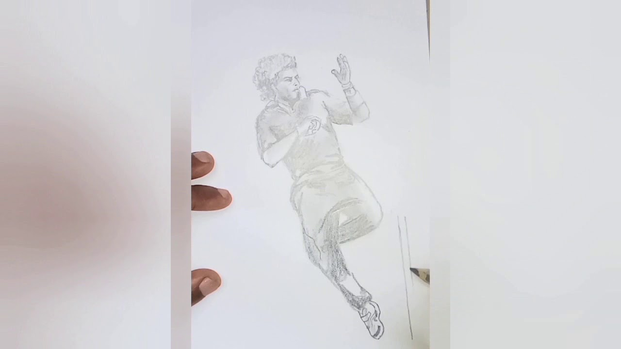 A Pencil Sketch Of Legendarycricketer Lasith Malinga Youtube