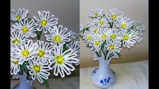 Цветы из бисера / РОМАШКИ из бисера СВОИМИ РУКАМИ / МАСТЕР-КЛАСС
