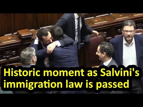 Matteo Salvini's immigration law is passed in Italian parlia