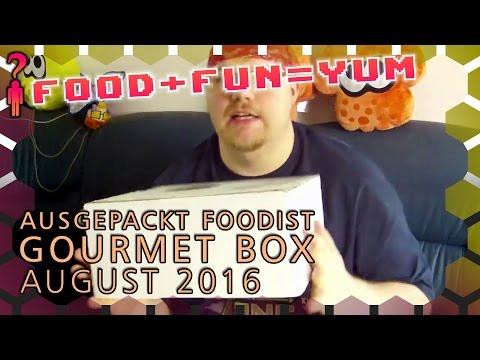 Food+Fun=Yum - Foodist Gourmet Box August 2016 ausgepackt! - Deutsch