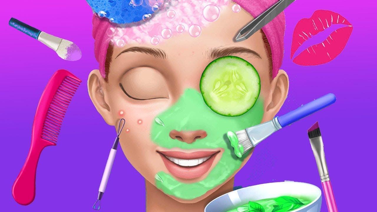 Fun Cheerleader Teen Makeup Nail & Hair Salon Dress UP Spa ...
