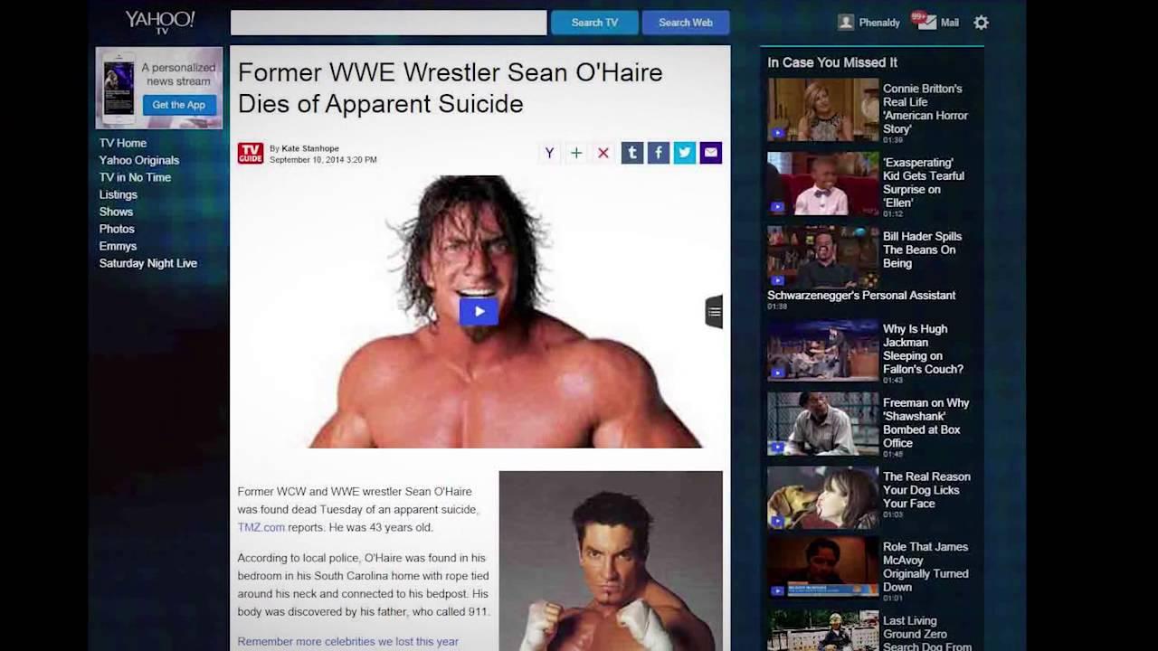 CELEBRITY DEATH Wave... WWE Wrestler Sean O'Haire, Simone ...