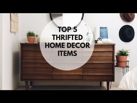 Top 5 Thrifted Home Decor Items