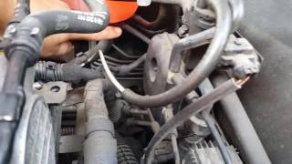 Vauxhall Opel Vectra coolant/radiator water level sensor repair.