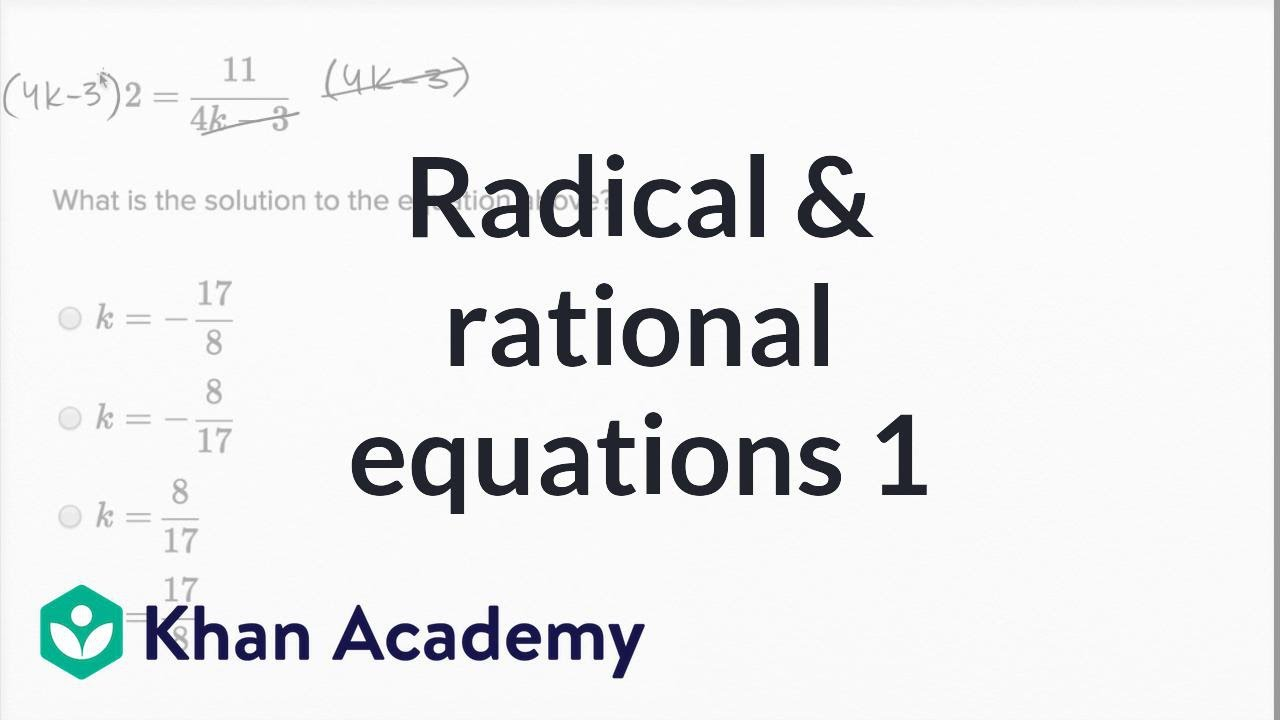 rational and radical equations - 1280×720
