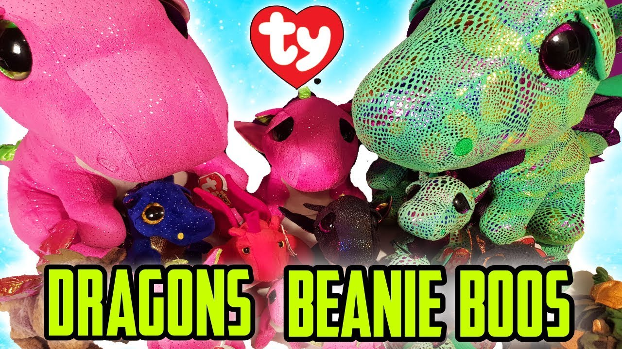 Our Ty Beanie Boo And Babies Dragons Collection 2018 Youtube