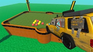 Beamng drive - Playing 8 Ball Pool With Cars ( Car Games )