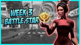 SEASON 9, Week 3 *SECRET* Battle Star Location! (Free Tier) - Fortnite Battle Royale