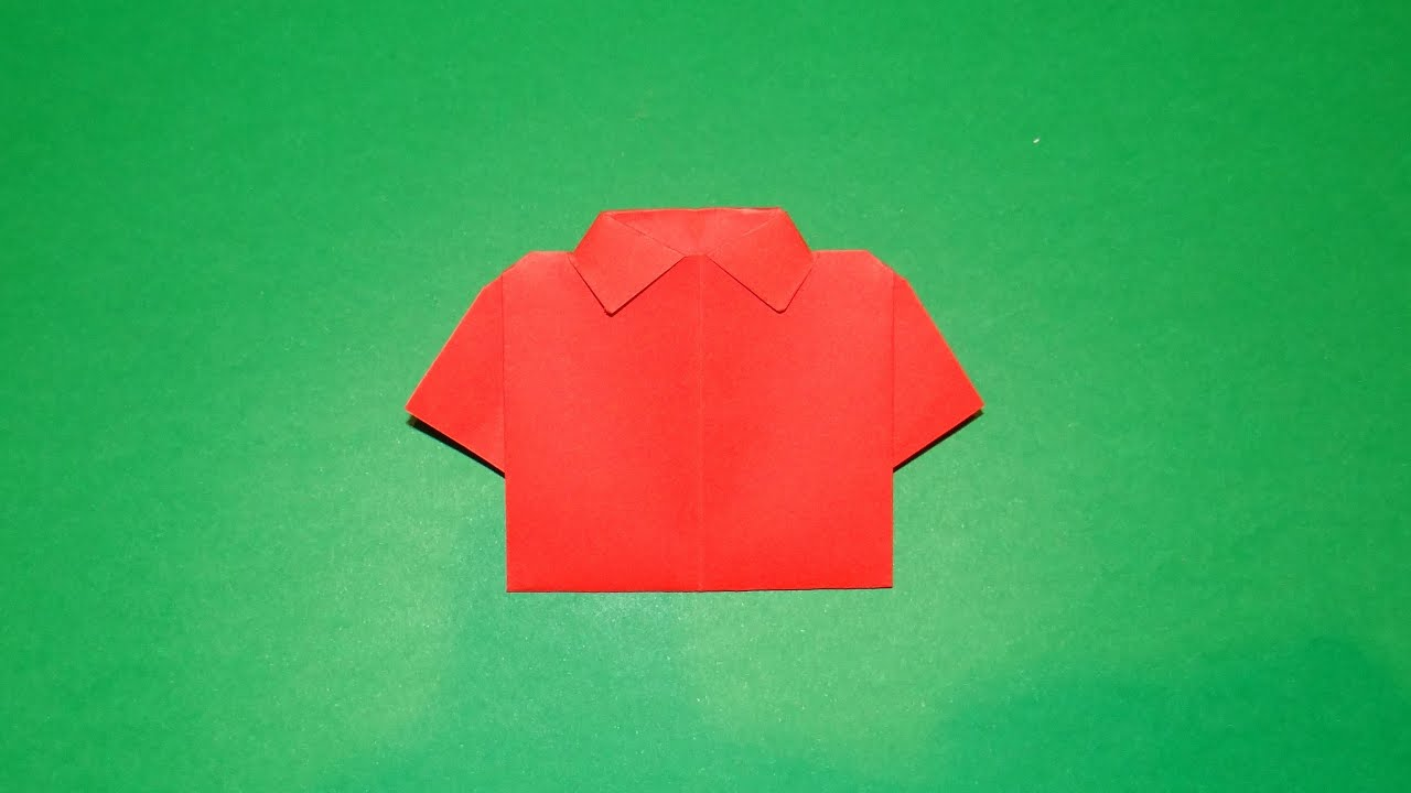 How to make an origami t shirt 01 youtube jeuxipadfo Gallery