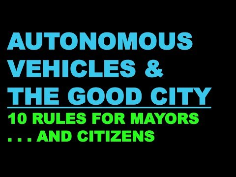 Jeff Speck: Autonomous Vehicles & the Good City - YouTube