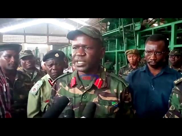 Isikilize kauli ya JWTZ  baada ya kukabidhiwa kiwanda cha kubangua korosho