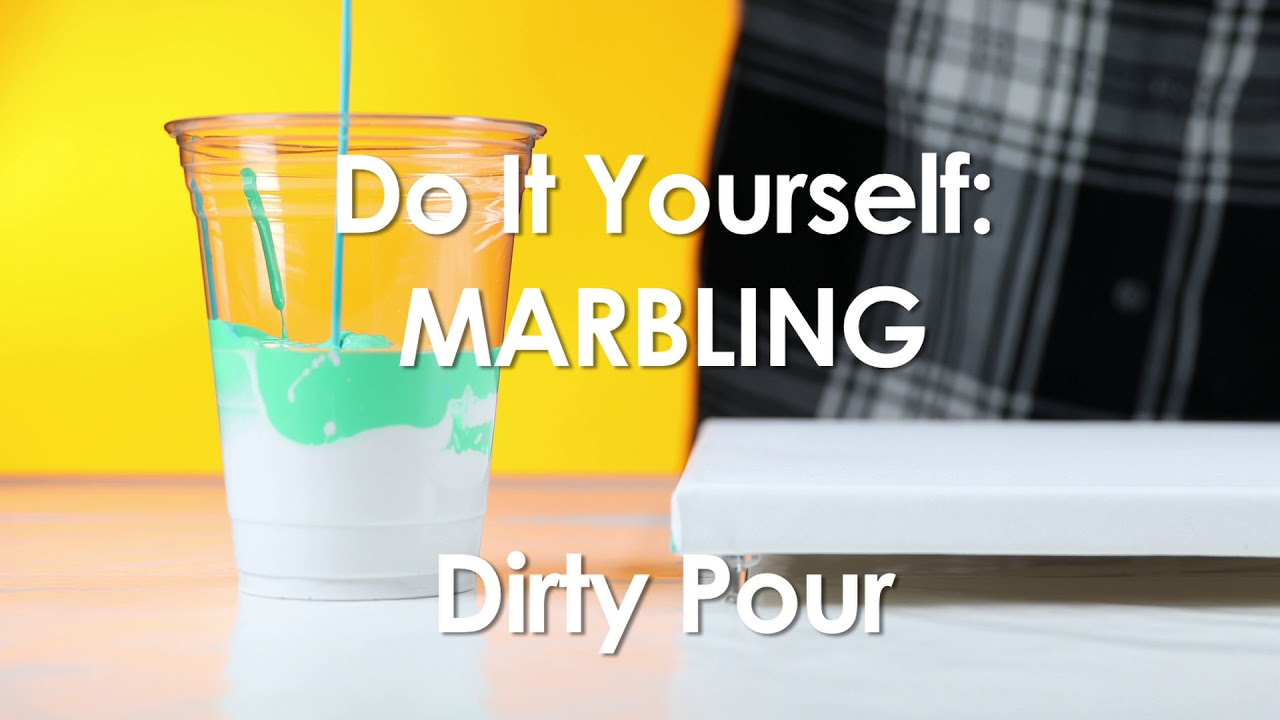 Do It Yourself Marbling - Dirty Pour - YouTube