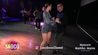 Dmitriy Hort and Marta Khanna Salsa Dancing at Moscow MamboMania weekend, Friday 26.10.2018