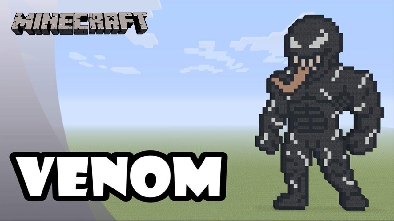 Minecraft: Pixel Art Tutorial: Venom (Venom Movie) - YouTube