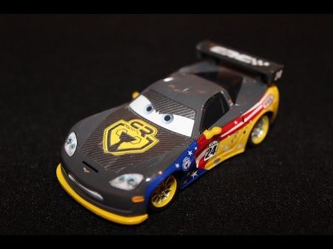 Mattel Disney Cars Carbon Racer Jeff Gorvette Transcontinental Race