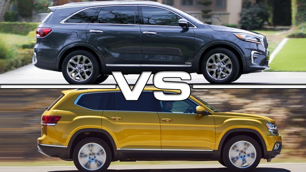 2019 Kia Sorento vs 2018 Volkswagen Atlas - YouTube