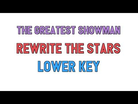 The Greatest Showman (Lower key KARAOKE) - Rewrite The Stars(2 half steps)