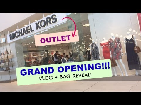SHADY DISCOUNT AT THE GRAND OPENING OF MICHAEL KORS OUTLET + Bag Reveal