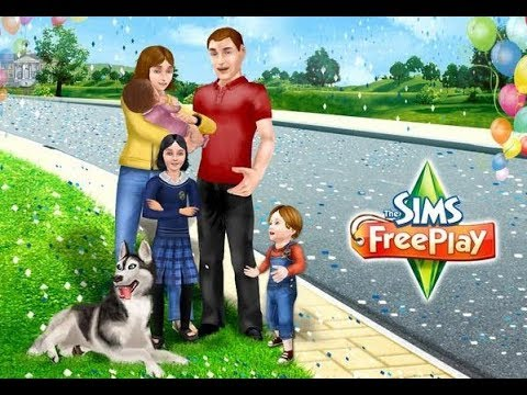 Let's Play Sims Free Play #1 Знакомства, Собака и Кошка