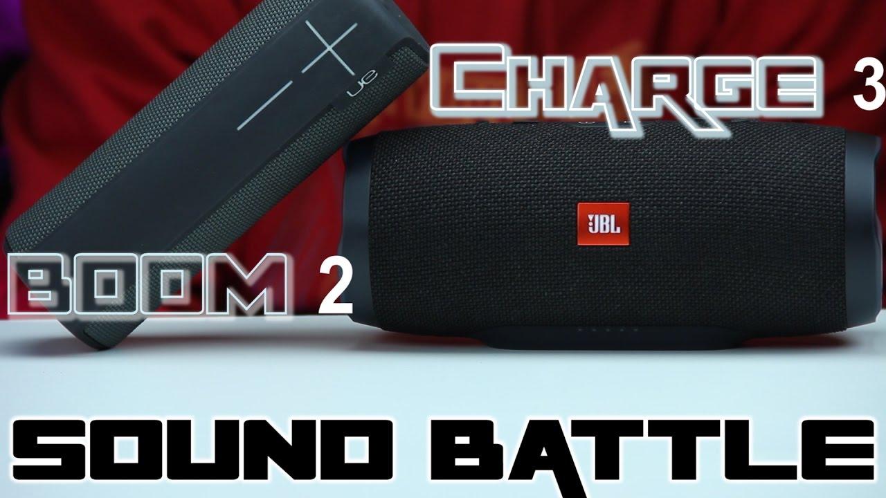 SOUND BATTLE UE Boom 2 vs Charge 3 - The real sound comparison
