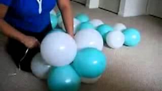 видео Ёлка из шаров на леске
