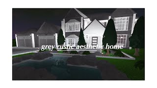 Roblox: Welcome to Bloxburg | Grey Rustic Aesthetic Suburban Home | 125K? |