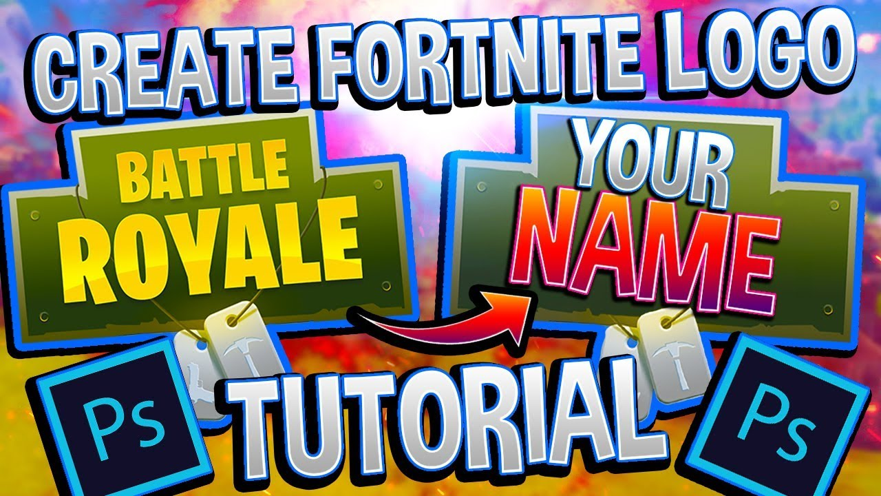 Fortnite Tutorial How To Remove Text From Logo Photoshop Youtube